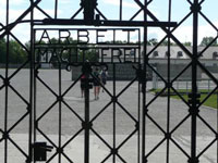 Arbeit Macht Frei / Work Makes Free! - gate at Dachau concentration camp