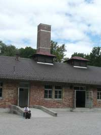 Crematorium building with gas chambers