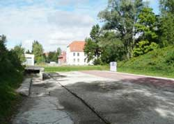 Old train platform and SS building